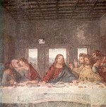 Leonardo's Last Supper [detail]